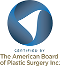 Logo Recognizing Dr. Eric H. Williams's affiliation with The American Board of Plastic Surgery