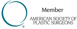Logo Recognizing Dr. Eric H. Williams's affiliation with American Society of Plastic Surgeons
